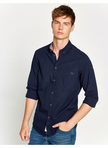 Uzun Kollu Slim Fit Gömlek-Koton